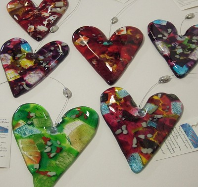Large Glass Hearts