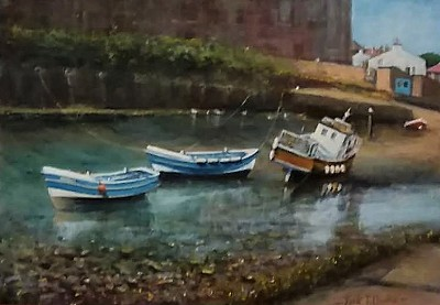 Beached Boats at Staithes (JD268)